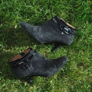 👢Söfft Leather Heeled Booties Ankle Winter/Fall Boots Suede